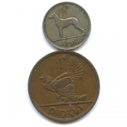 Набор монет 1945, 1949 (Ирландия)