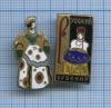 Набор значков «Русский сувенир» (тяжелые, латунь, эмаль, клеймо «ЩЗ» (СССР)