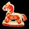 Солонка «Лошадка» (роспись, 8 см)
