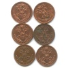Набор монет 1/2 копейки 1911, 1912 СПБ (Российская Империя)