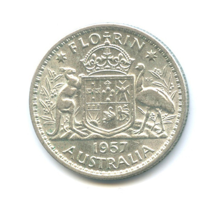 2 шиллинга (флорин) 1957 года (Австралия)