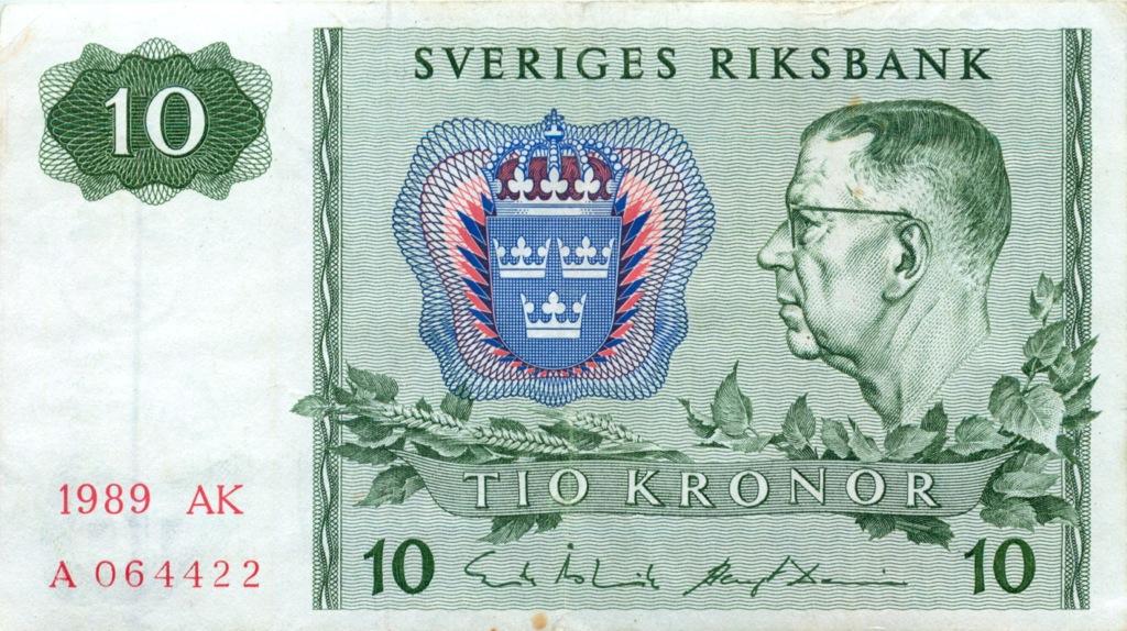 10 крон 1989 года (Швеция)