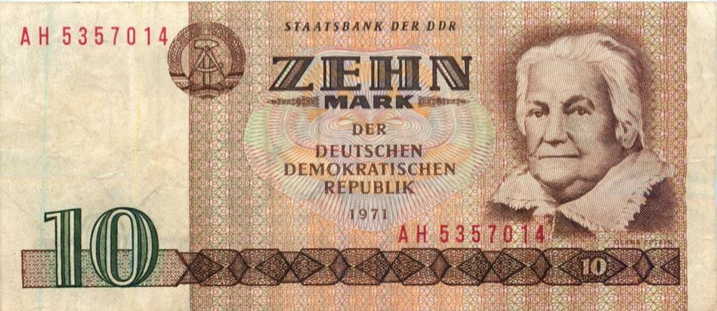 10 марок 1971 года (Германия (ГДР))