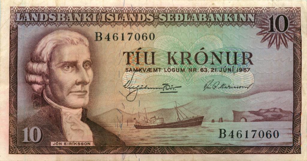 10 крон 1957 года (Исландия)