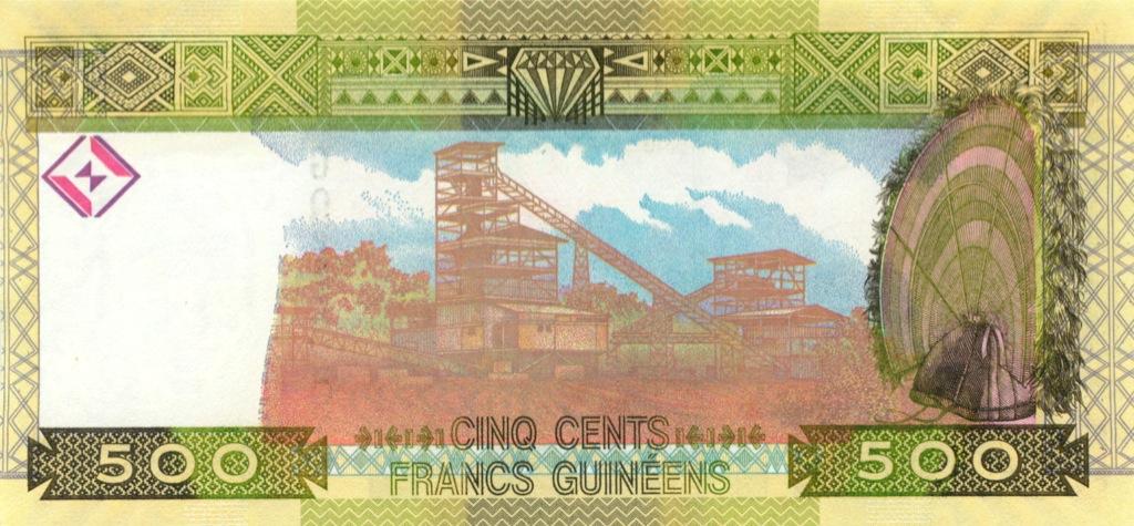 500 франков (Гвинея) 2006 года