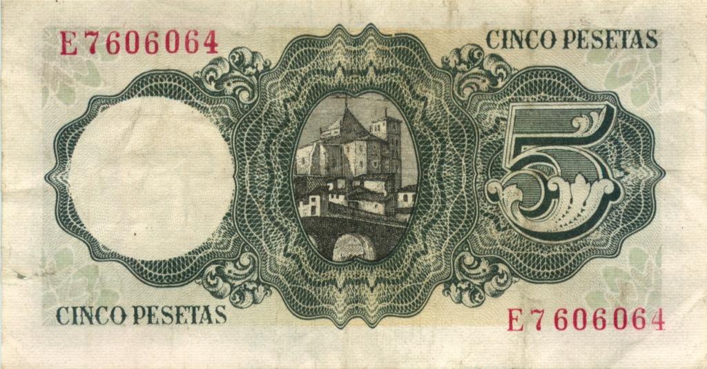 5 песет 1951 года (Испания)