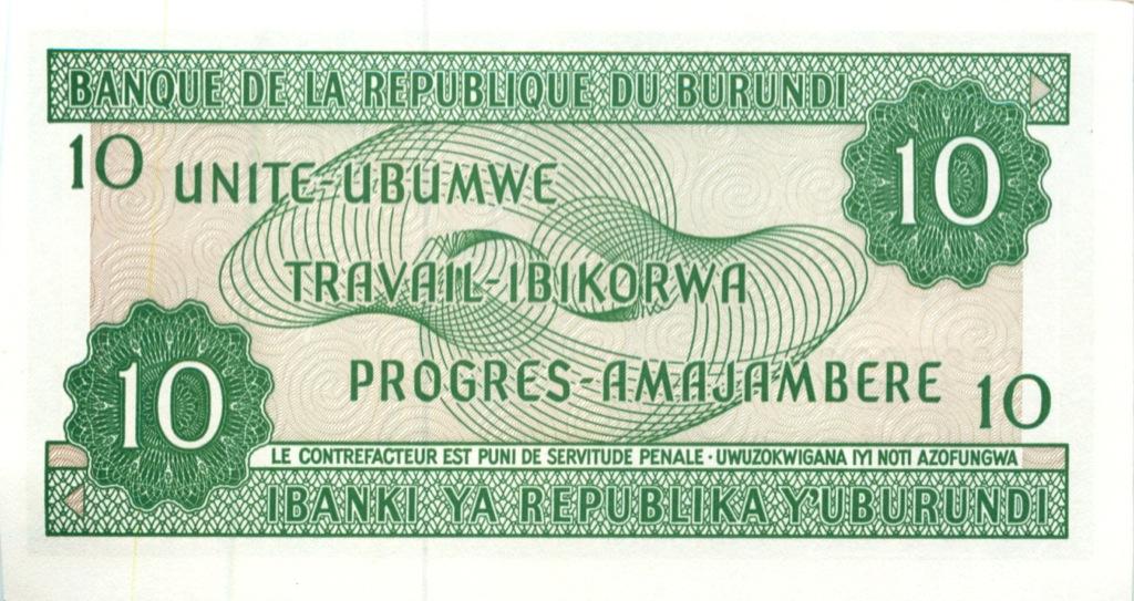 10 франков (Бурунди) 2007 года