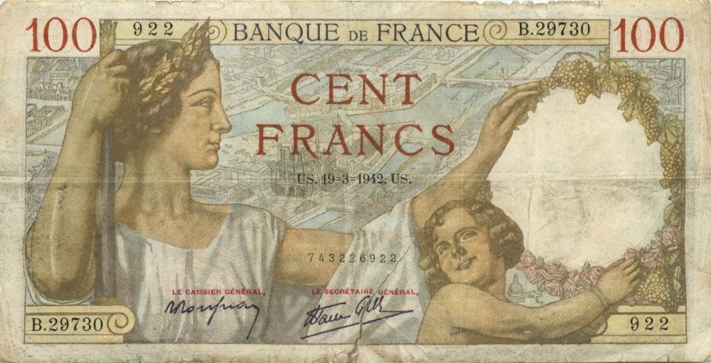 100 франков 1942 года (Франция)