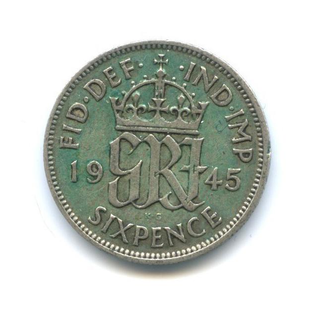 6 пенсов 1945 года (Великобритания)