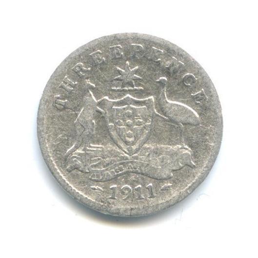 3 пенса 1911 года (Австралия)