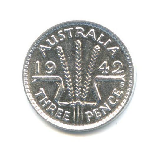 3 пенса 1942 года S (Австралия)
