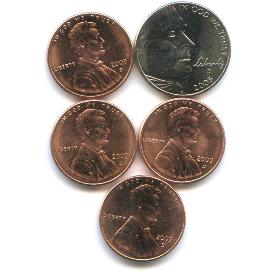 Набор юбилейных монет 2005, 2009 D (США)