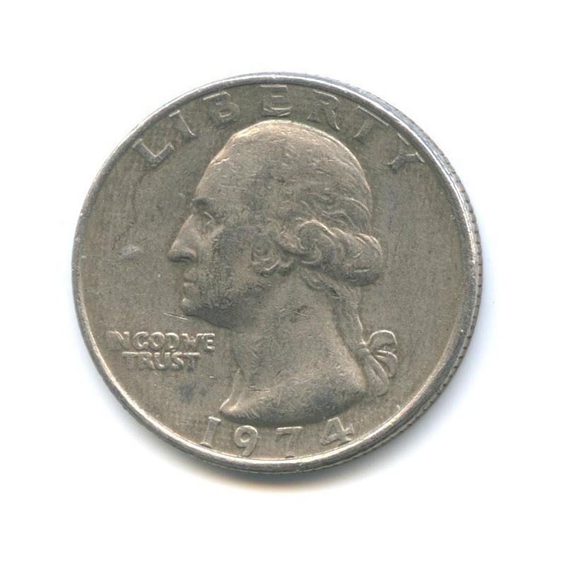 25 центов (квотер) 1974 года (США)