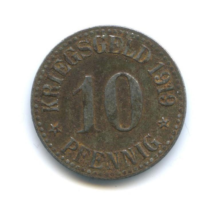 10 пфеннигов, Кассель (нотгельд) 1919 года (Германия)