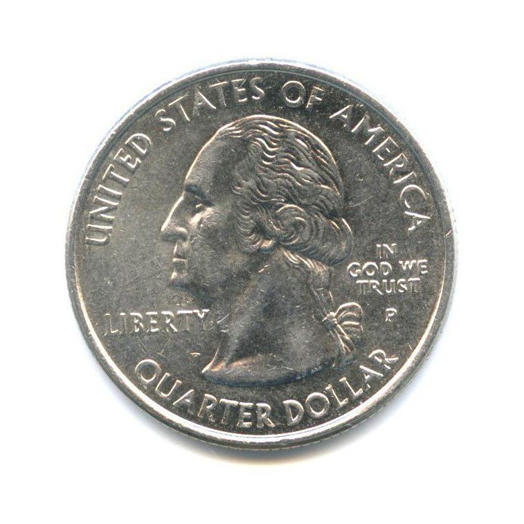 25 центов (квотер) — Квотер штата Индиана 2002 года P (США)