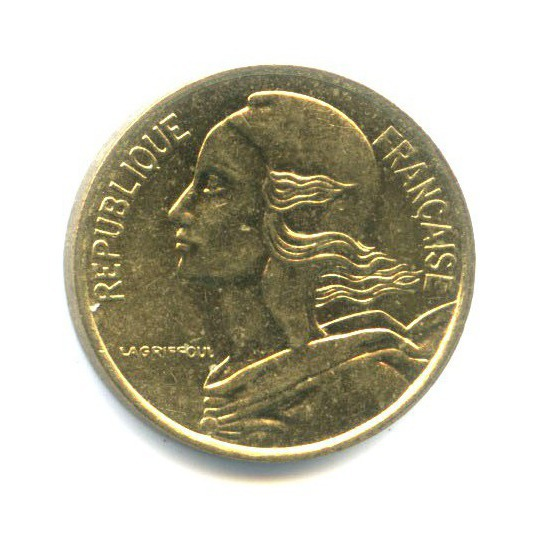 5 сантимов 1990 года (Франция)