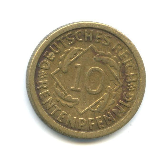 10 рентенпфеннигов 1924 года F (Германия)