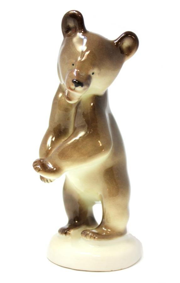 Фигурка «Медведь» (фарфор, ЛФЗ), 14,5 см (СССР)