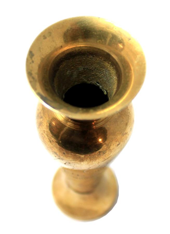 Вазочка (штихельный рисунок, латунь, 12 см)