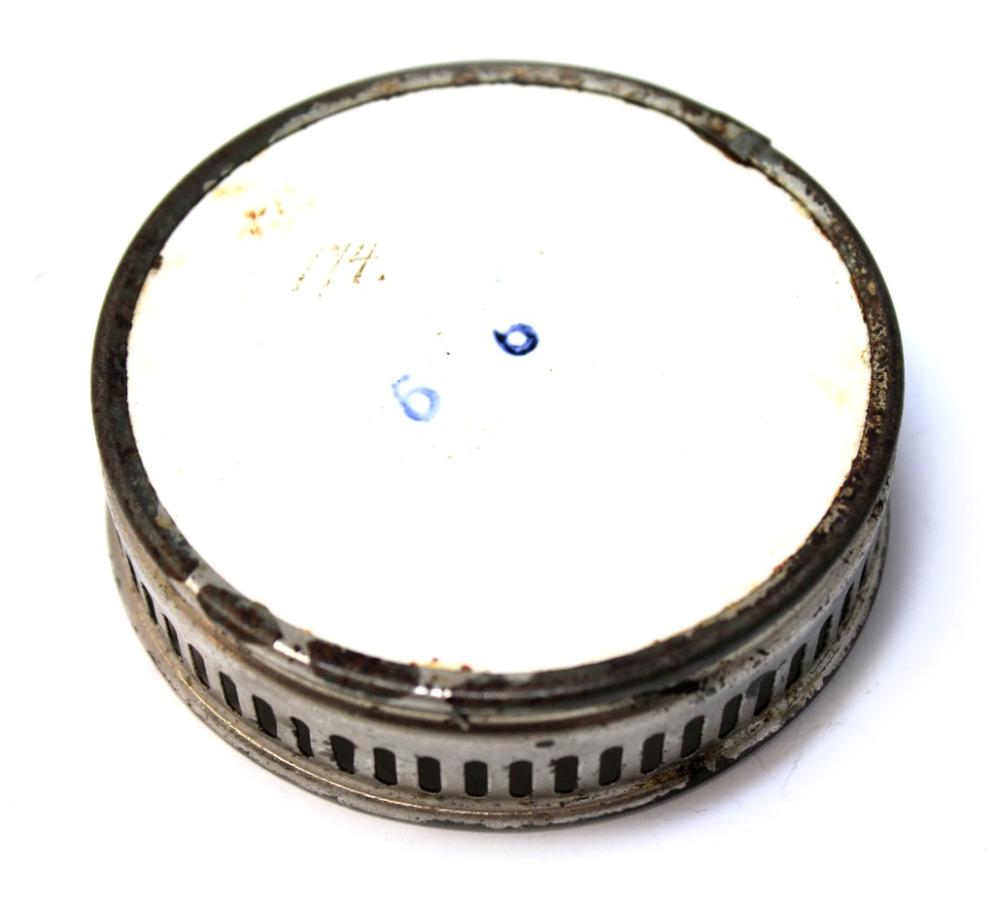 Подставка (серебрение, керамика, клеймо, 7,5 см) (Германия)