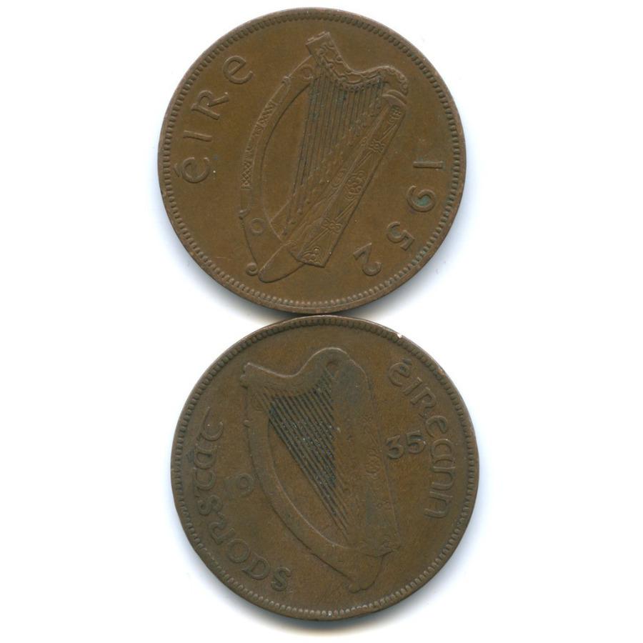 Набор монет 1 пенни 1935, 1952 (Ирландия)