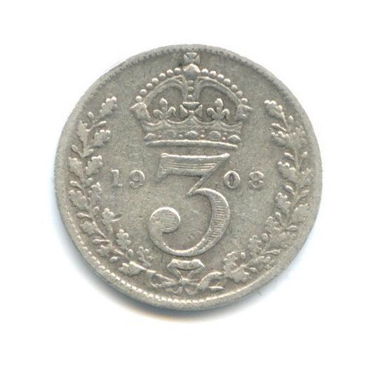 3 пенса 1908 года (Великобритания)