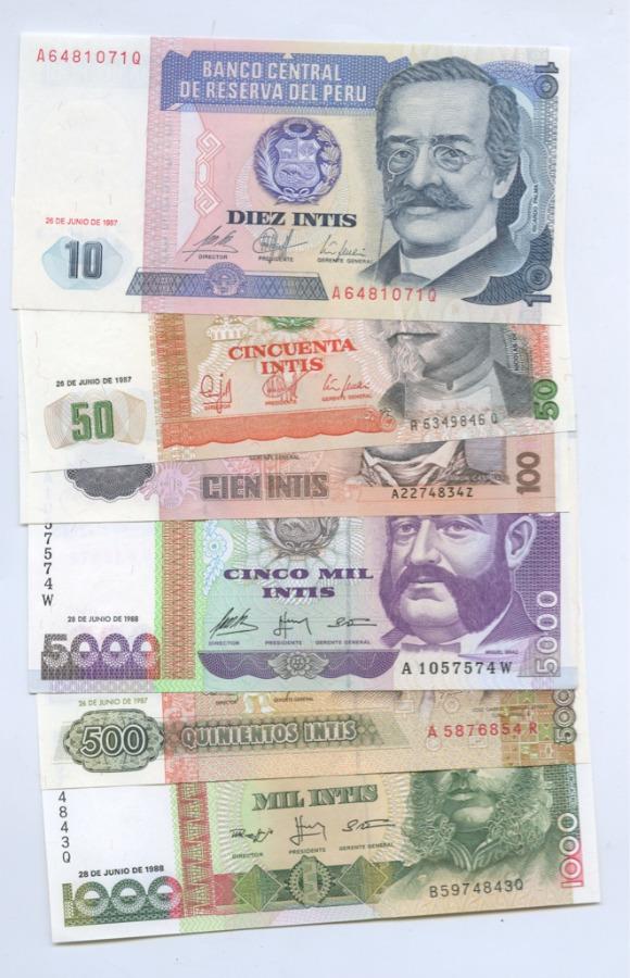 Набор банкнот 1987-1988 (Перу)