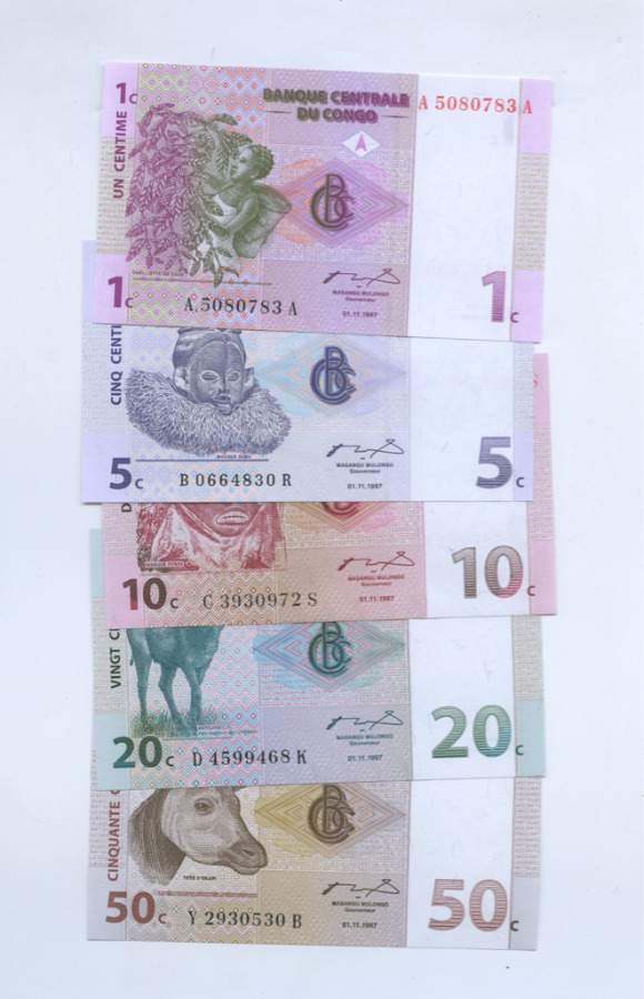 Набор банкнот (Конго) 1997 года