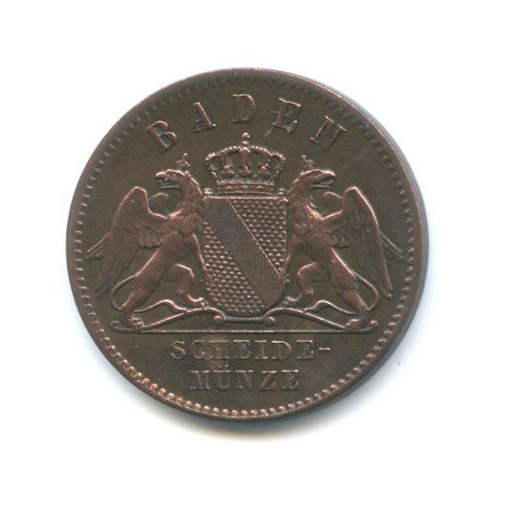 1 крейцер (Баден) 1866 года