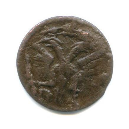 Полушка (1/4 копейки), год - буквами, ВРП 1719 года НД (Российская Империя)