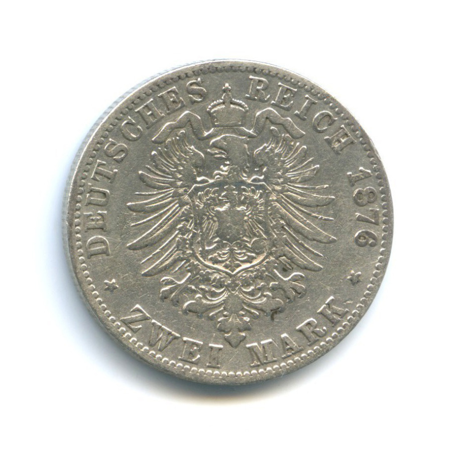 2 марки - Вильгельм I, Пруссия 1876 года С