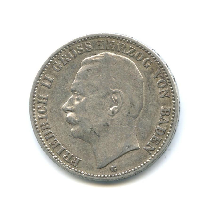 3 марки - Фридрих II, Баден 1909 года