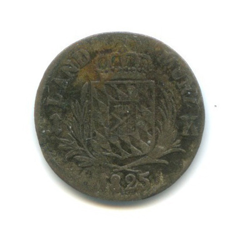 3 крейцера - Максимилиан IVИосиф, Бавария 1825 года