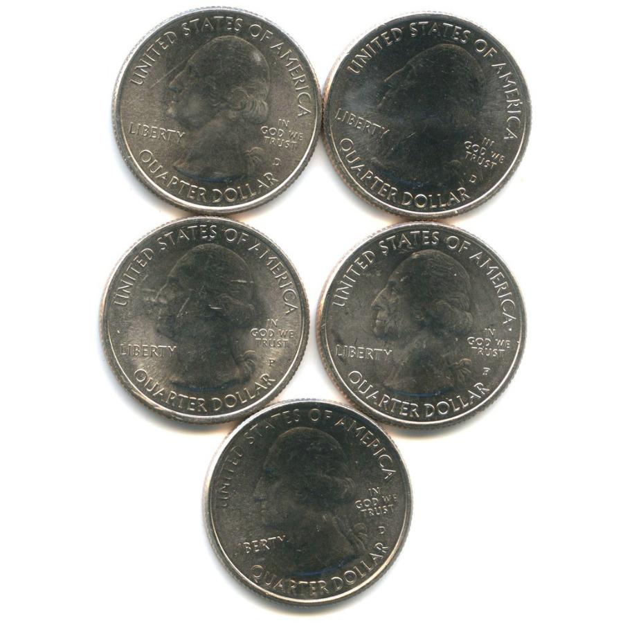 Набор юбилейных монет 25 центов (квотер) 2014, 2015 (США)