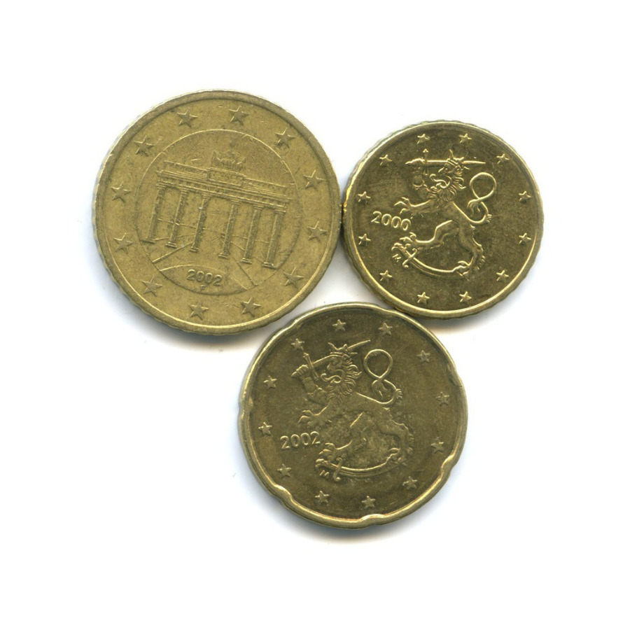 Набор евро центов (Германия, Финляндия) 2000, 2002