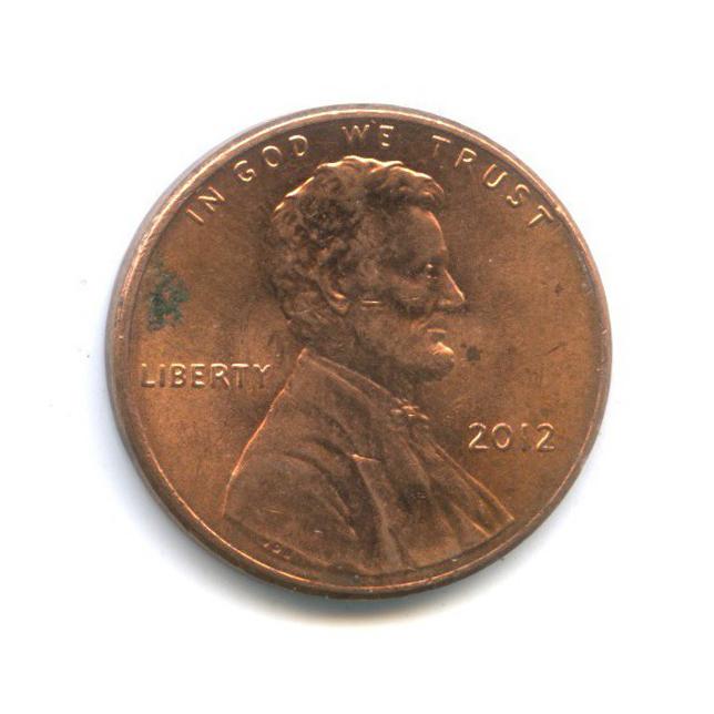 1 цент - Щит Содружества 2012 года (США)