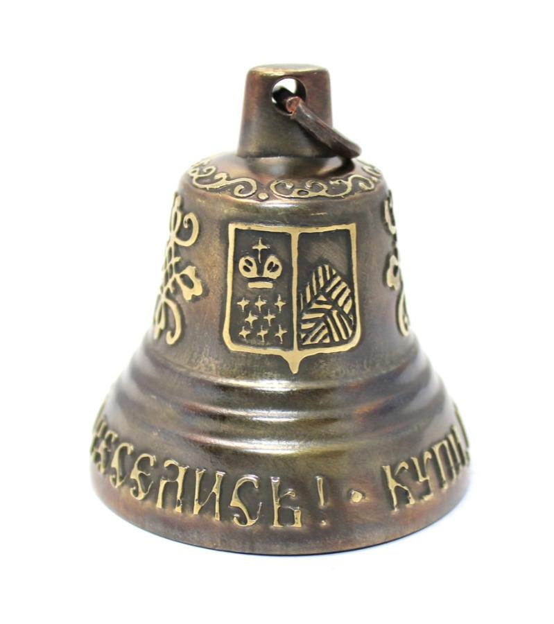 Колокольчик «Купи, нескупись, сомной веселись!» / «Дар Валдая» (6,5 см) (Россия)