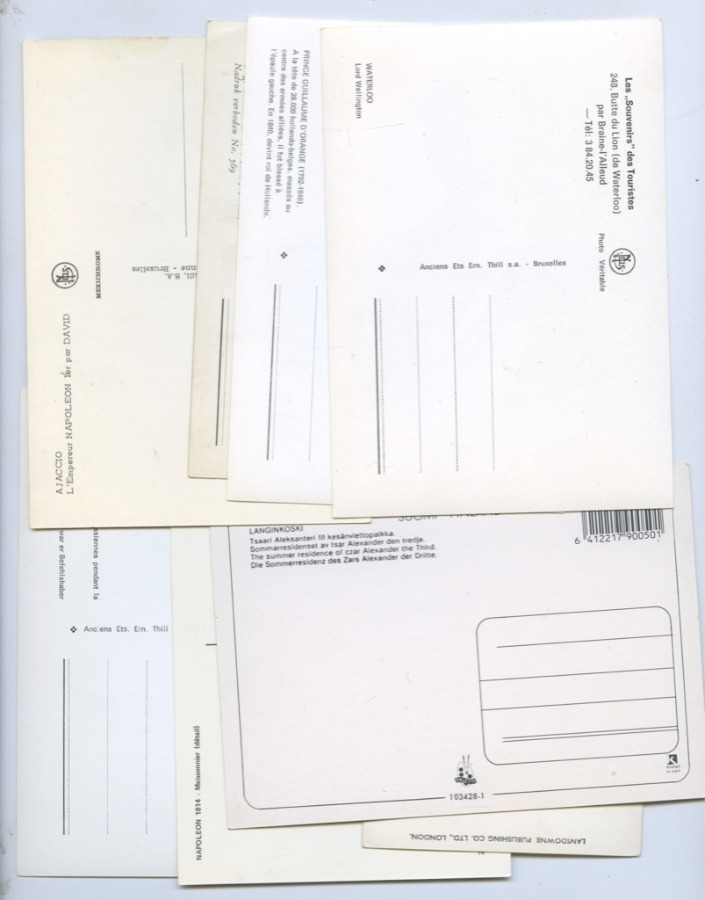 Набор почтовых открыток (разные страны, 8 шт.)