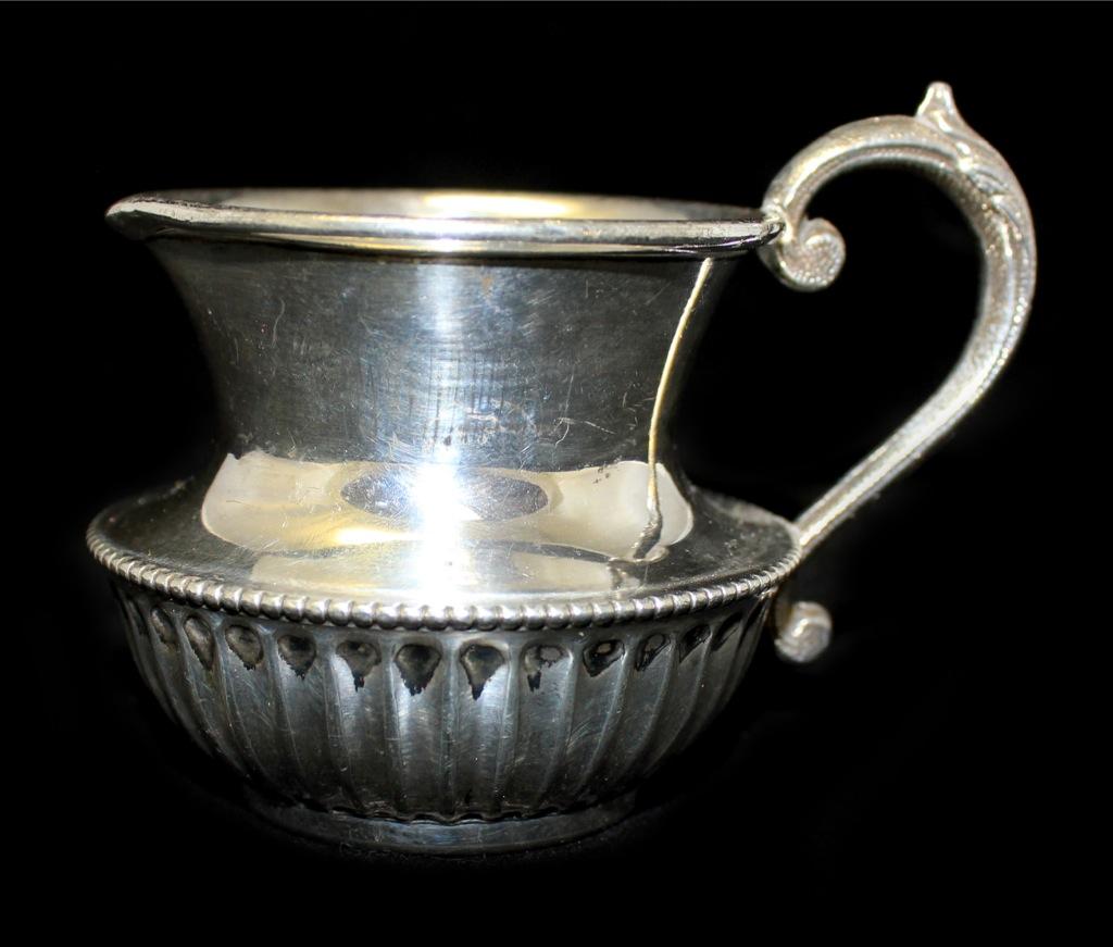 Молочник «John Henry Potter» (серебрение, 7 см) 1890-1910 (Великобритания)