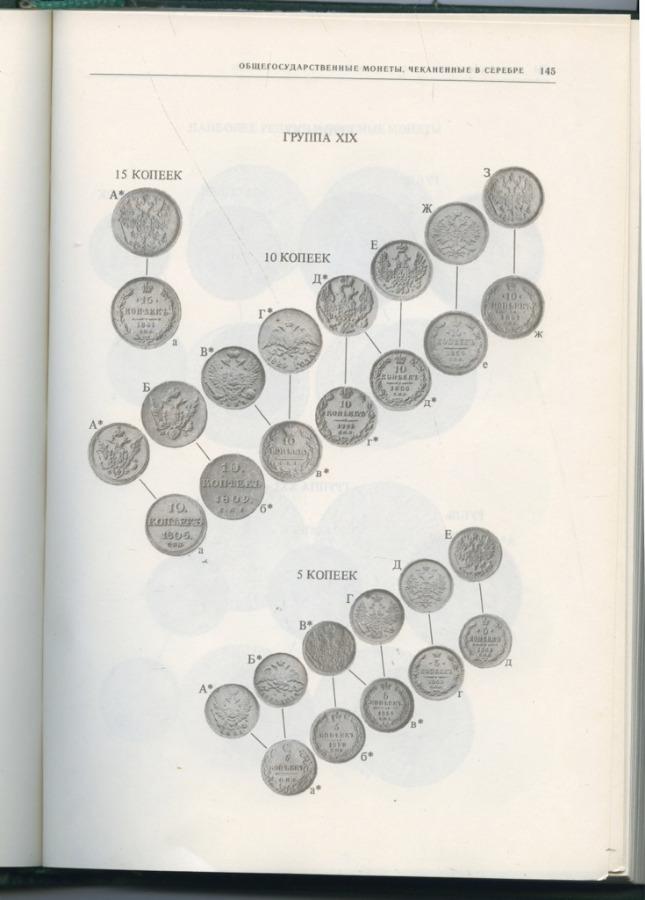 Книга «Монеты России 1700-1917 гг.», издательство «Финансы истатистика» (499 стр.) 1985 года (СССР)