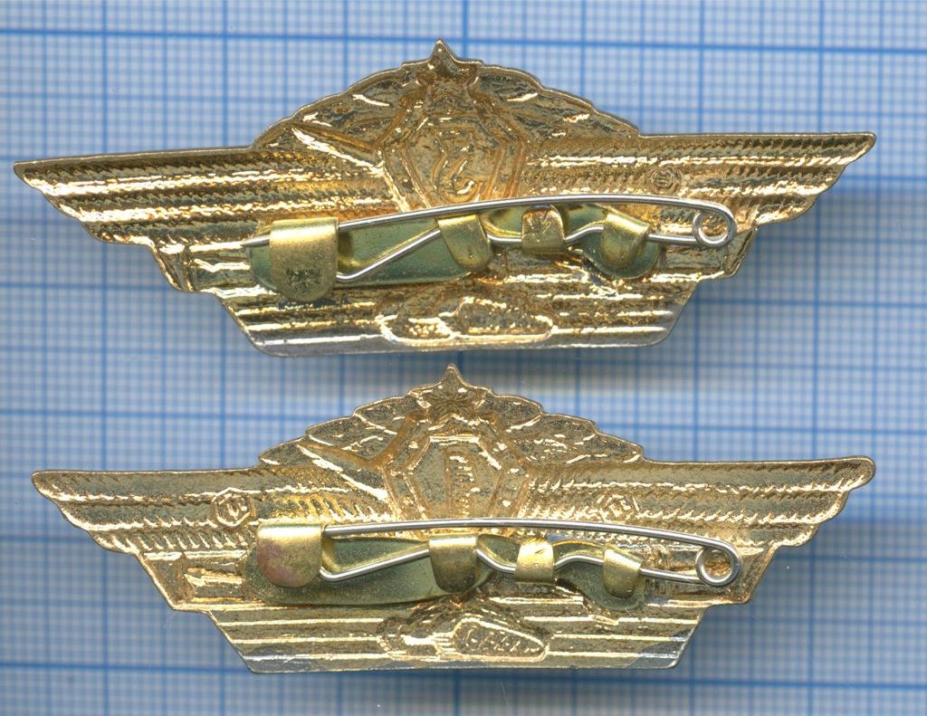 Набор нагрудных значков «Классность танкиста» (1-й и3-й класс) (СССР)