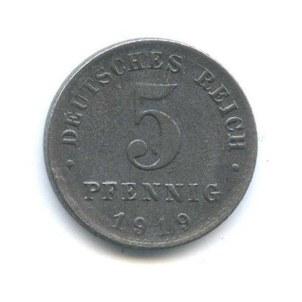 5 пфеннигов 1919 года А (Германия)