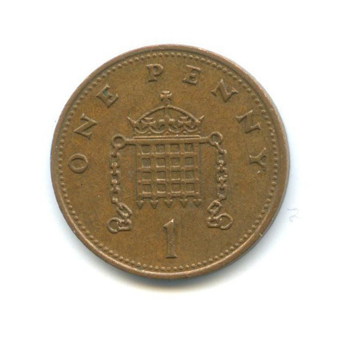 1 пенни 1986 года (Великобритания)