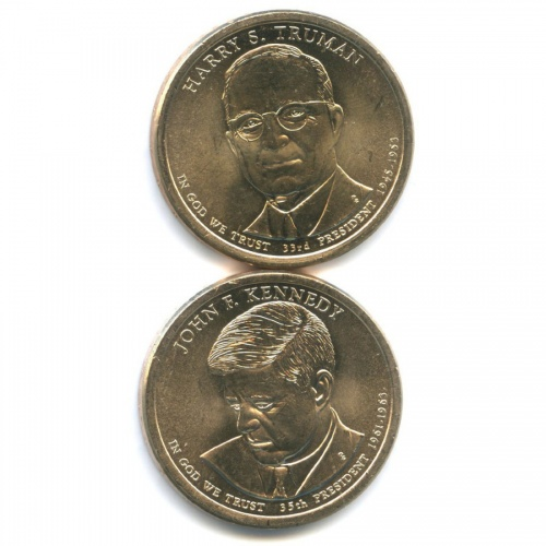 Набор монет 1 доллар - Президенты США 2015 года (США)