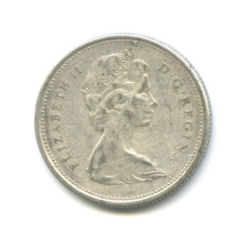 25 центов (квотер) 1965 года (Канада)