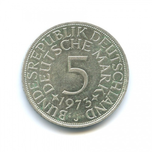 5 марок 1973 года J (Германия)
