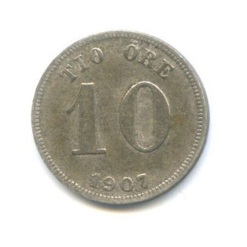 10 эре 1907 года (Швеция)