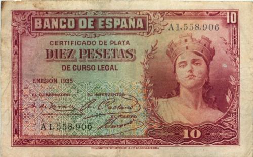 10 песет 1935 года (Испания)