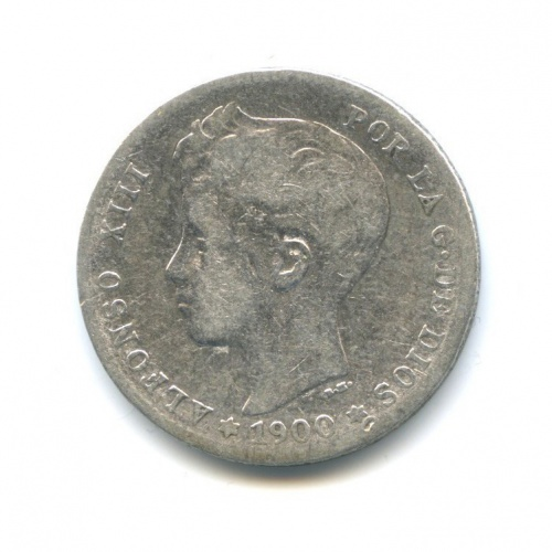 1 песета - Альфонс XIII 1900 года (Испания)