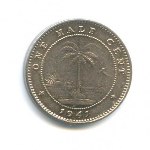 1/2 сента, Либерия 1941 года